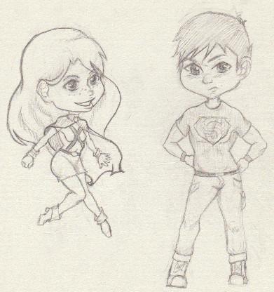 Sketch: Chibis by Kiku-chiyo