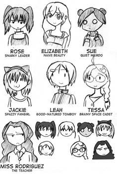 Raspberry Heaven Character Sketches