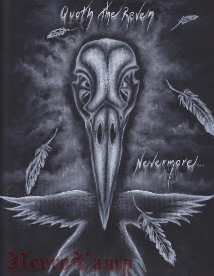 Raven skull by NevroVamp