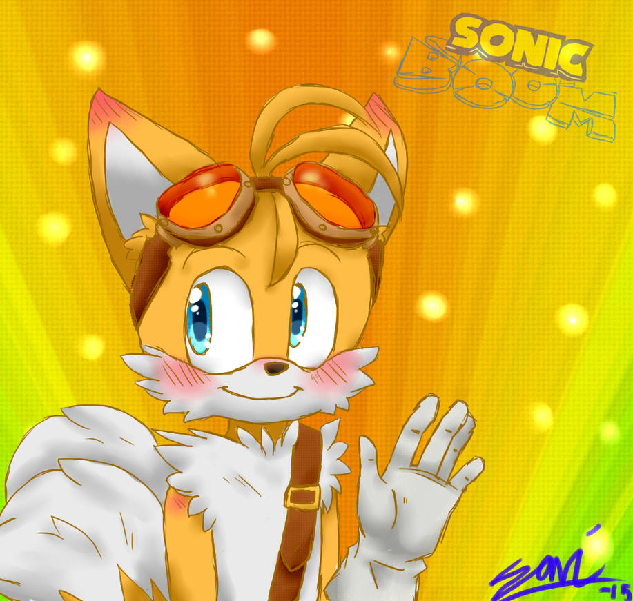 how to draw tails from sonic boom