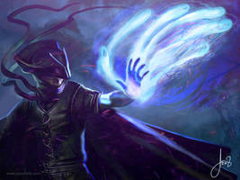 Ghostly Hands- Magic The Gathering by jason-felix