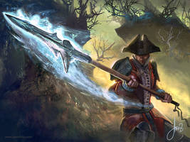 Lunging Spear-Magic The Gathering by jason-felix