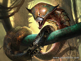 Copper Snake Coil -Magic The Gathering by jason-felix
