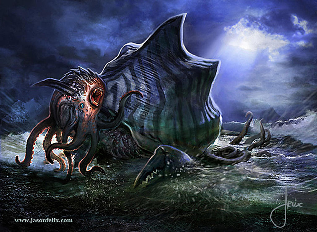 Kraken Hatchling -Magic The Gathering by jason-felix
