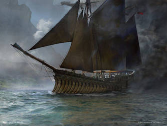 MTG-Shadowed Caravel-Jason Felix by jason-felix