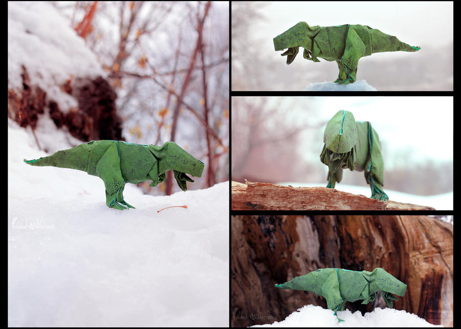 Origami T-Rex by FoldedWilderness