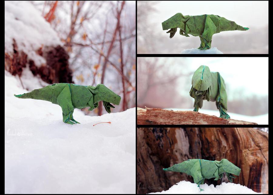Origami T-Rex by FoldedWilderness