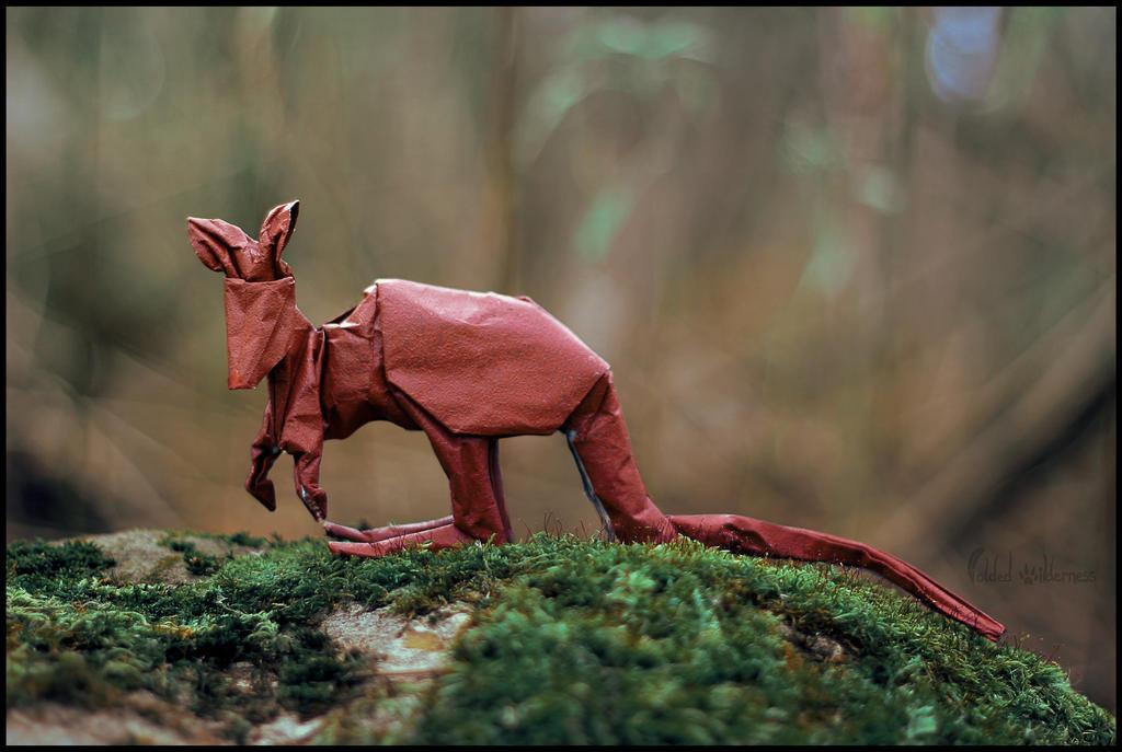 Origami Kangaroo by FoldedWilderness