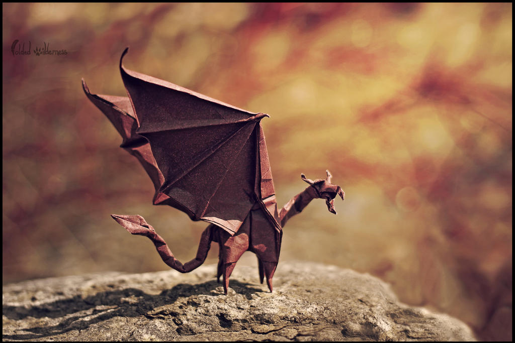 Flame Dragon (Origami) by FoldedWilderness