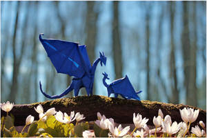 Mother's day Dragons by FoldedWilderness