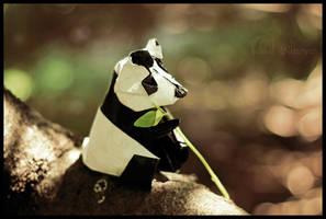 Snack time Panda by FoldedWilderness