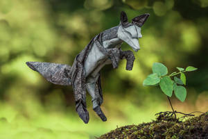 Summer Arctic Fox by FoldedWilderness