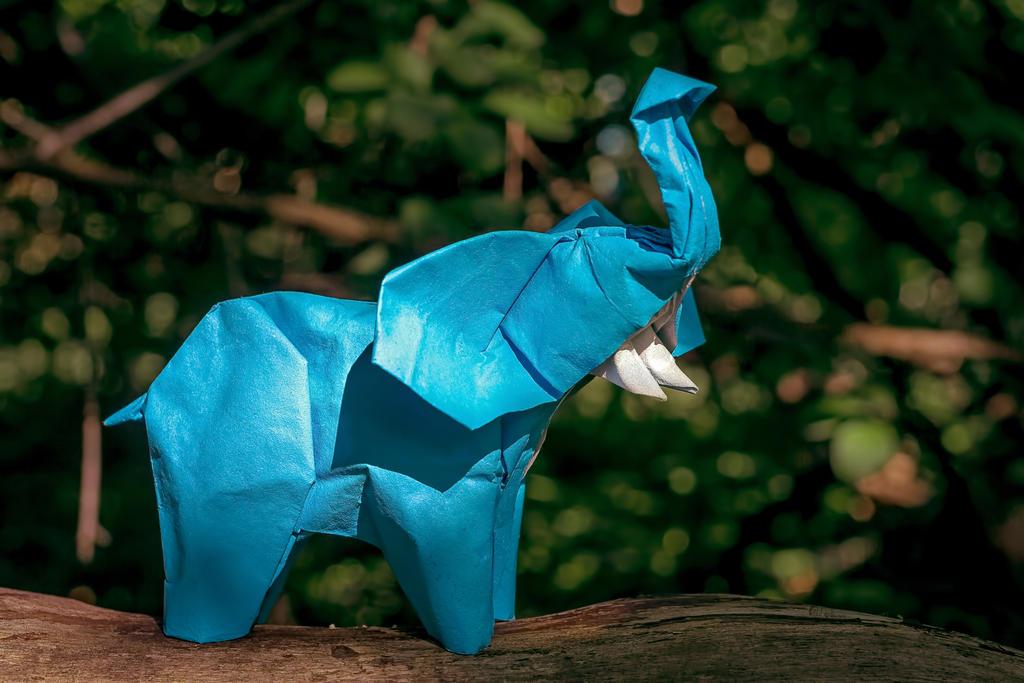 Origami Elephant by FoldedWilderness