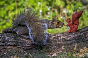 Origami Sharing squirrel 1 by FoldedWilderness