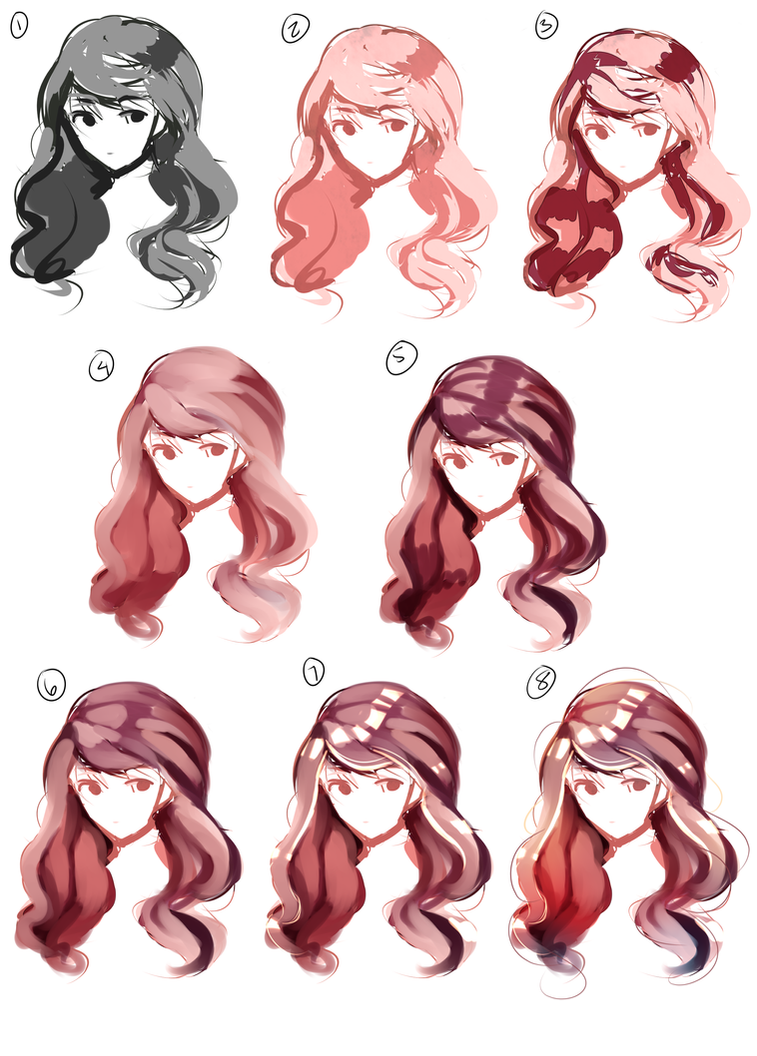 Hair Paint Tutorial By Broyam On Deviantart