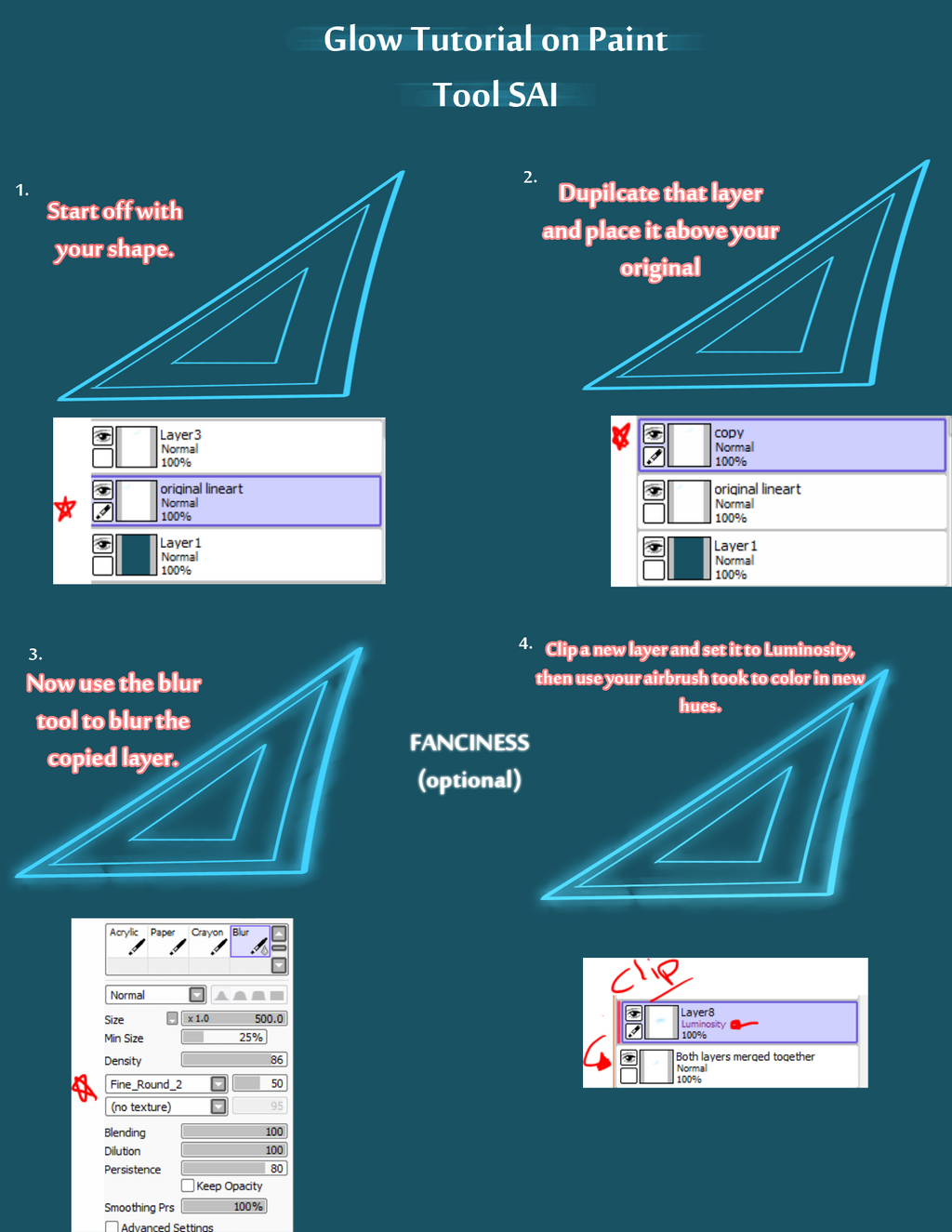 Glow Effect on PAINT TOOL SAI (super easy) by Broyam on DeviantArt