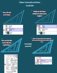 Glow Effect on PAINT TOOL SAI (super easy) by Broyam