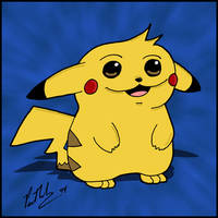 Chubby Pikachu by chelano