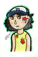 Emotional  Walking Dead Clementine by chelano