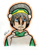 The Stare Of Toph Beifong From Avatar by chelano