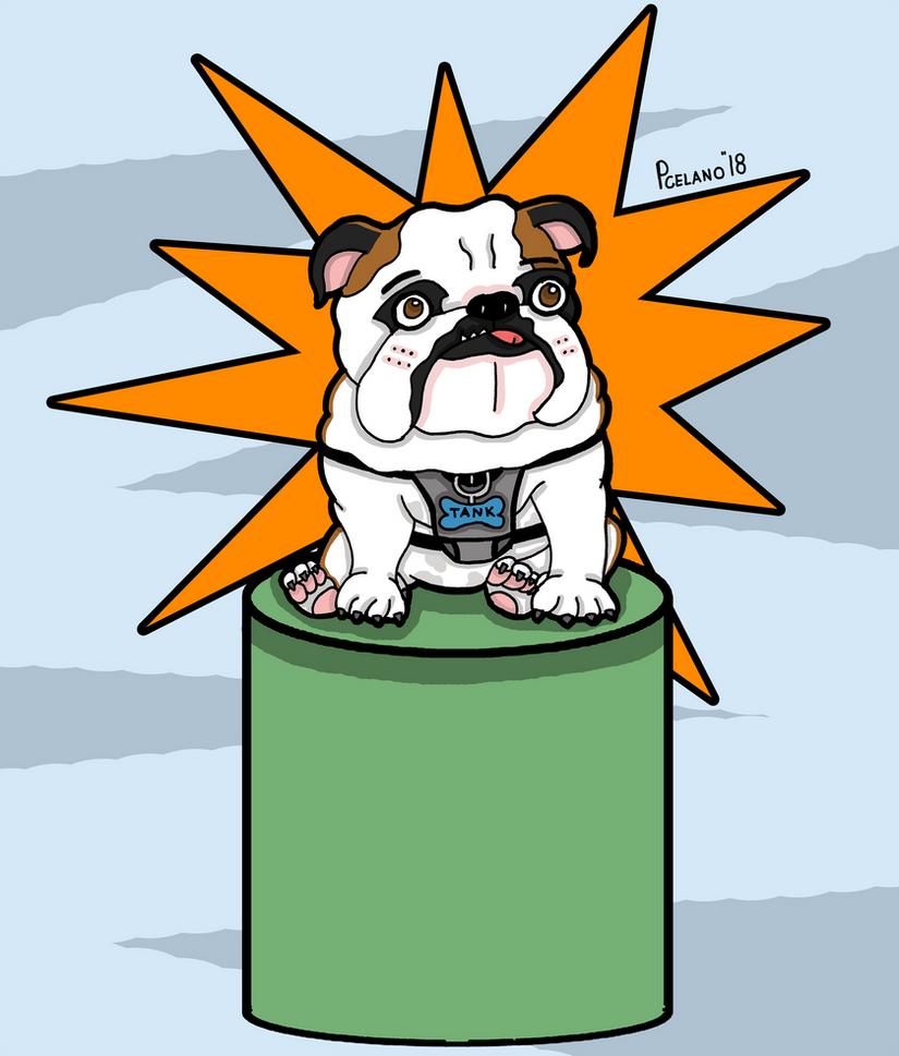 Tank The Bulldog Hero by chelano
