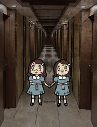 The Shining Twins Hold Hands by chelano