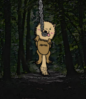 Doggo On A Rope