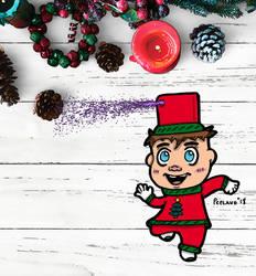 Christmas Spray Bottle Boy