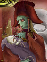 Neimoidian Mother and Infant by Kweh-chan