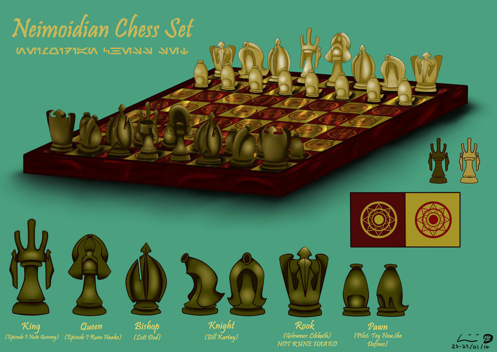 Neimoidian Chess Set design by Kweh-chan