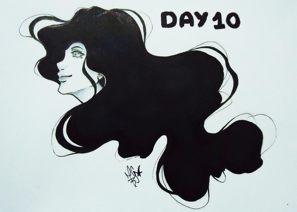 Inktober 2018 - Day 10 - Flowing