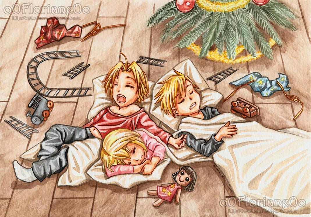 Christmas Card 2014 - FMA - Childhood by oOFlorianeOo