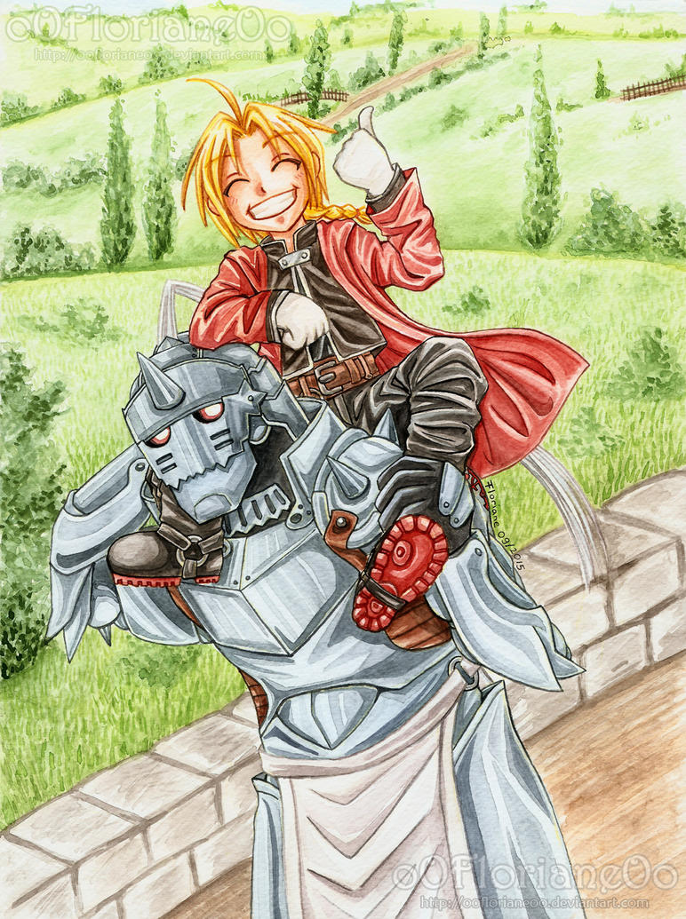 FMA - Back to Resembool  (Water Color Version) by oOFlorianeOo