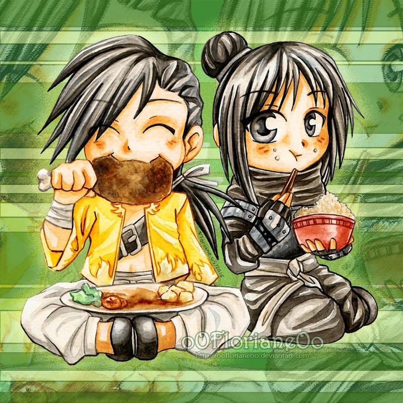 Chibi Ling and Lan Fan