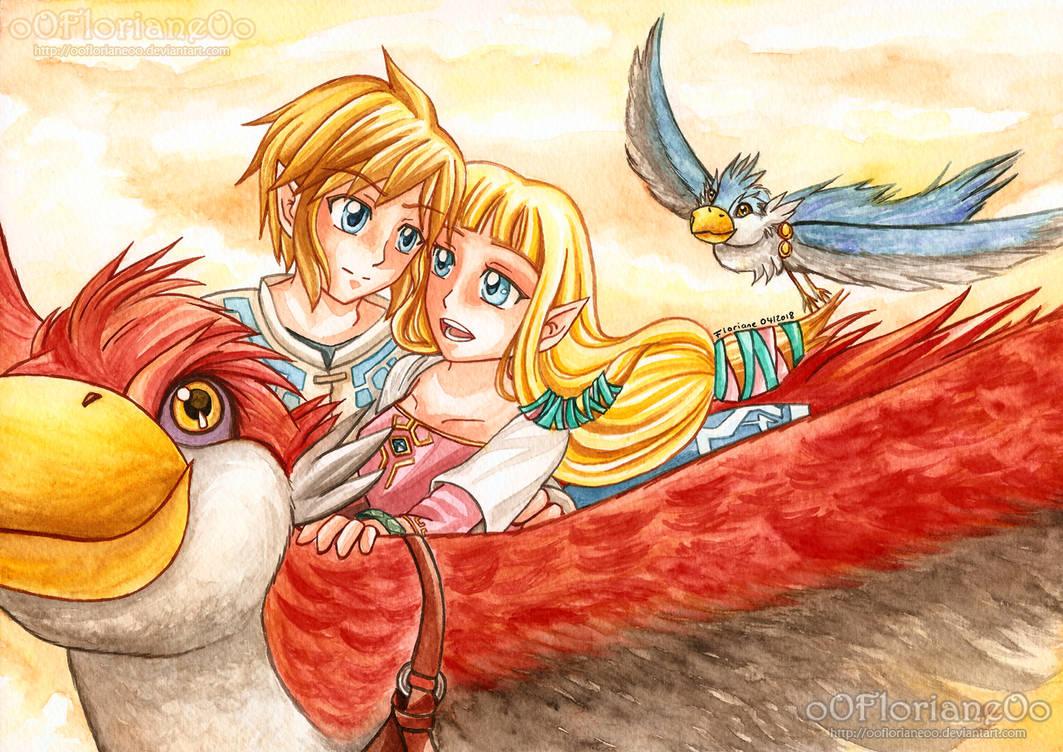 Zelda Skyward Sword - Link and Zelda