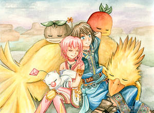 FF13-2 - Serah and Noel - Rest after the battle