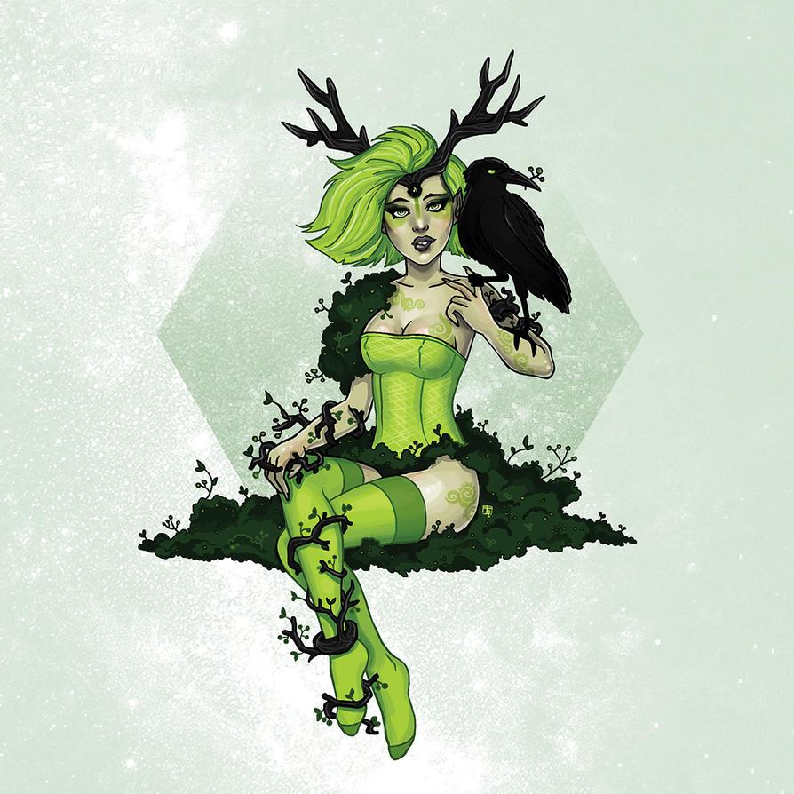 green wild fairy by Kordelia
