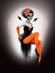 Mexico Pumpkin Witch by Kordelia