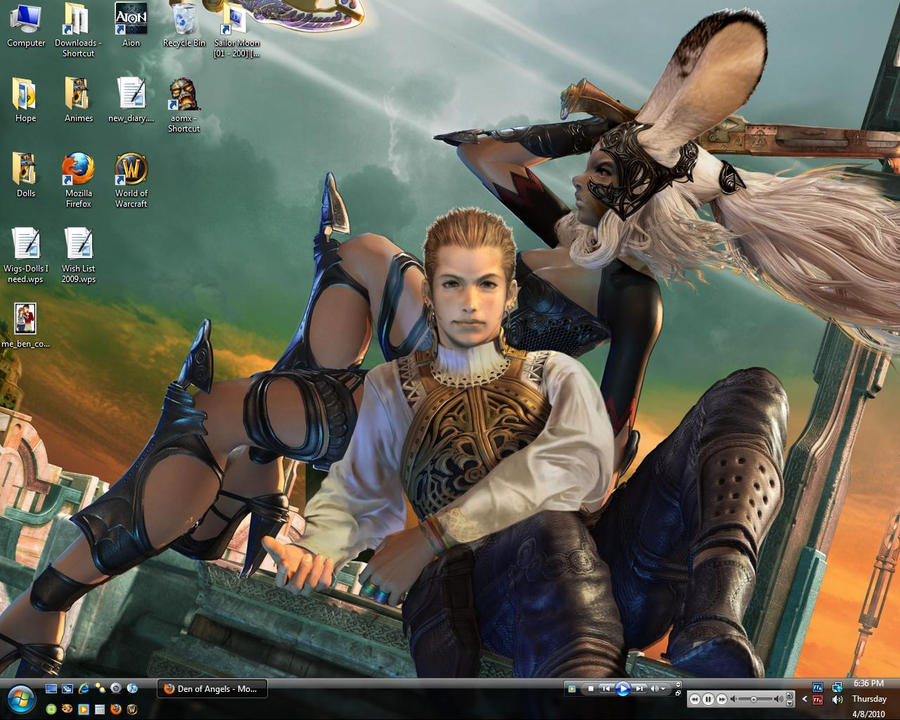 Fran and Balthier Desktop
