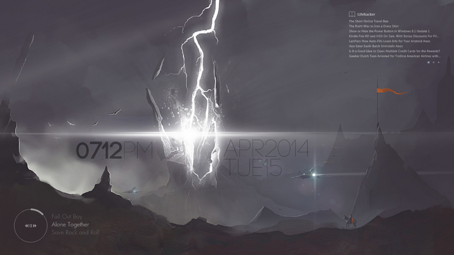 Lightning Strike (Minimal Desktop, 15 April 2014) by serin113