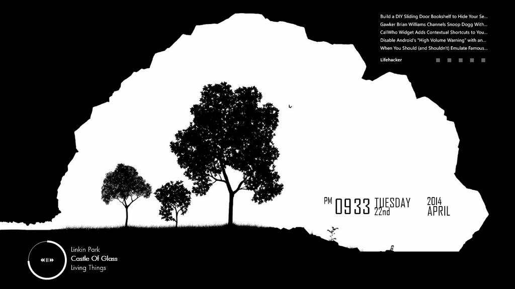 Monochromatia (Minimal Desktop, 22 April 2014) by serin113