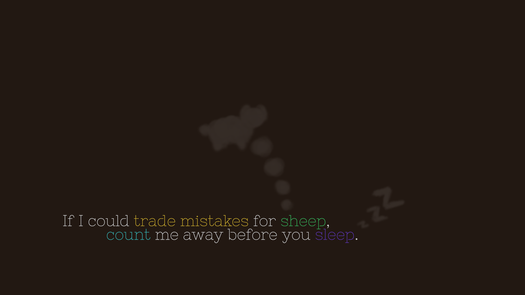 Trade Mistakes (minimal lyric wallpaper) by serin113