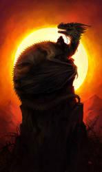 Fiery sun by znodden