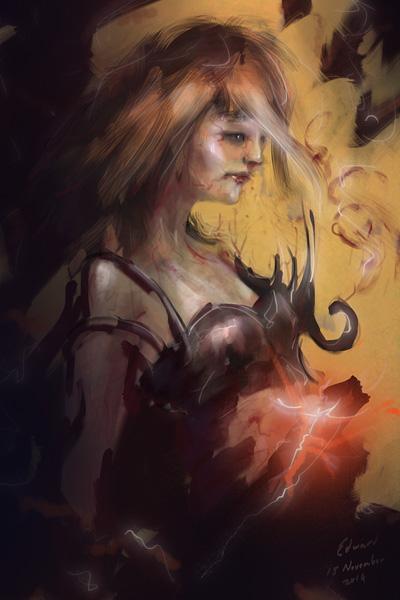 Blood Sorceress by kungfoowiz