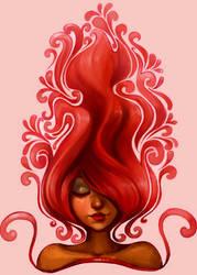 MEG WAVY HAIR by nathanscomicart