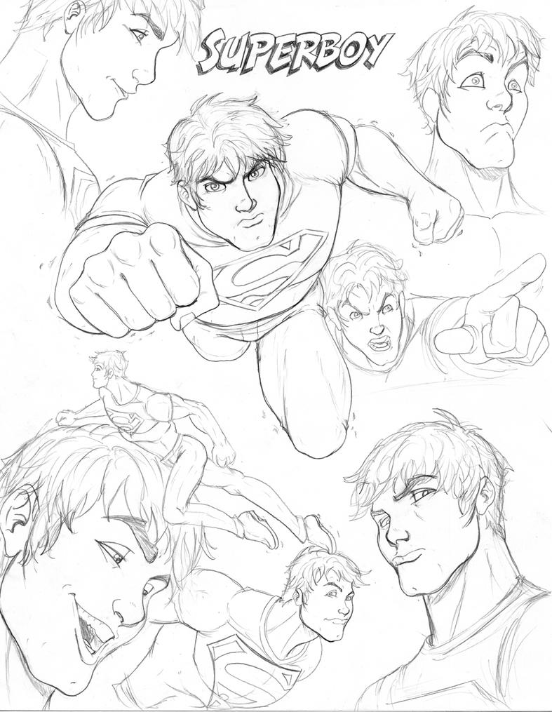 Superboy Free Colouring Pages Justice Superboy Coloring Pages Free