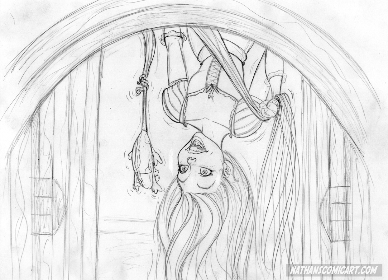 Tangled convention sketch - Gotcha! by nathanscomicart