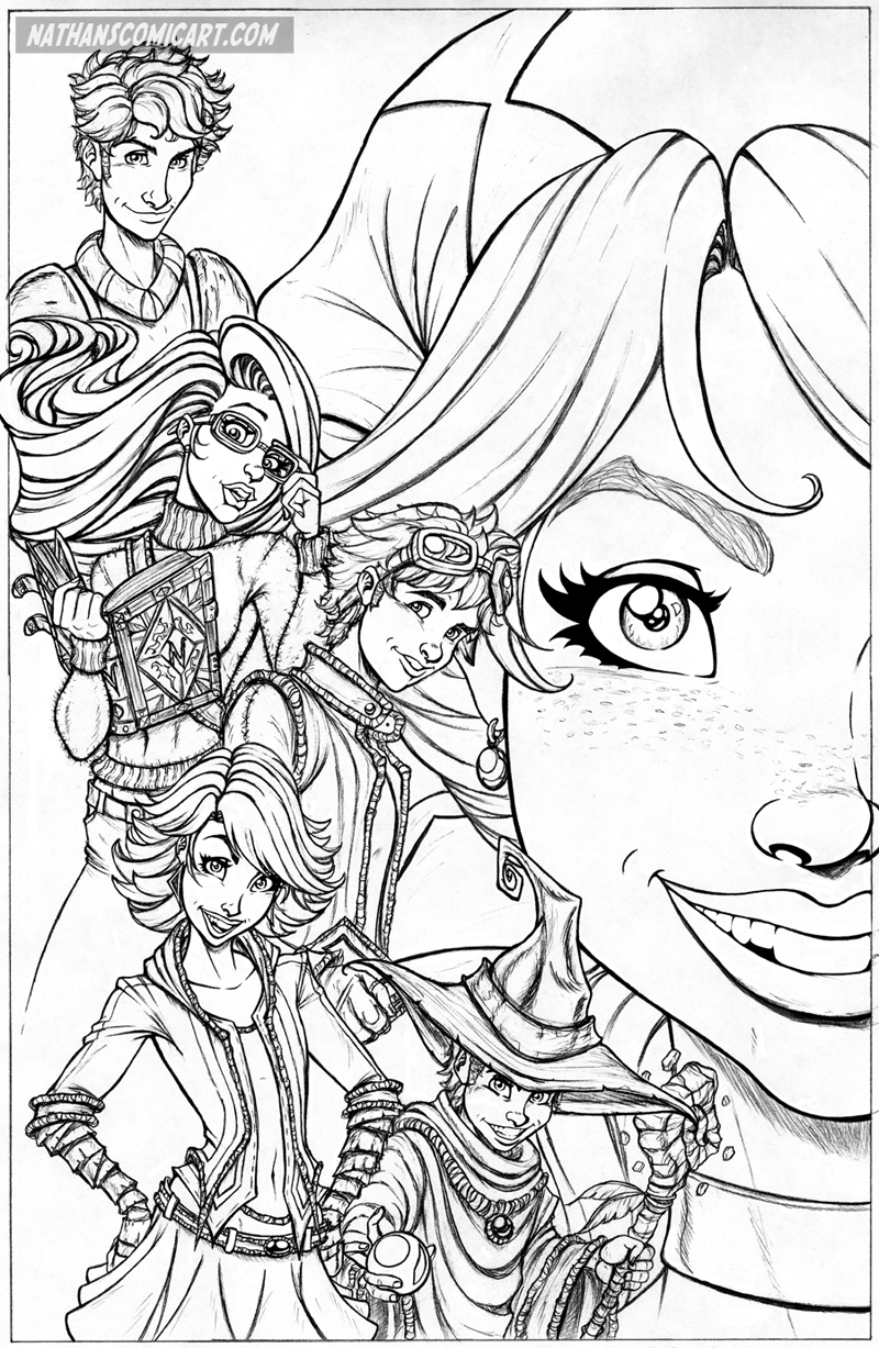 Line Art Comic : The lost kids poster b line art by nathanscomicart on