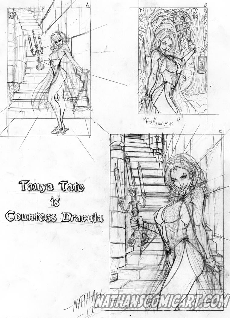 Tanya Tate Countess Dracula layouts by nathanscomicart