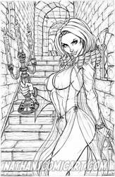 Tanya Countess Dracula line-art A by nathanscomicart